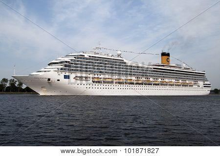 Modern Cruise ship Costa Fortuna.