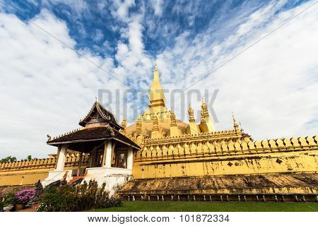 Pha That Luang Temple In Vientiane
