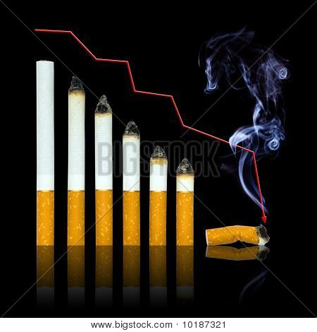 With Each Cigarette Graph Of Your Life Steeper To End