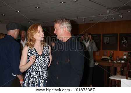 LOS ANGELES - SEP 16:  Marg Helgenberger, William Peterson at the PaleyFest 2015 Fall TV Preview -