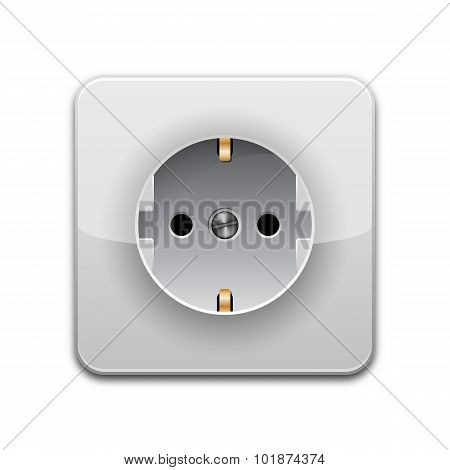 Vector Power Outlet Icon