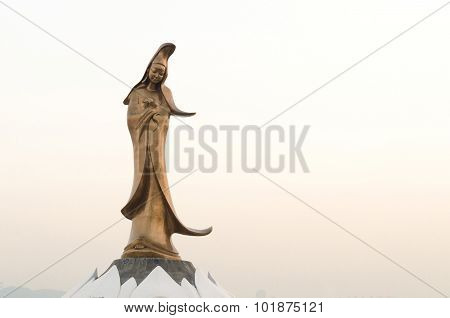Statue Of Kun Iam Macau The Goddess Of Mercy In Macau China