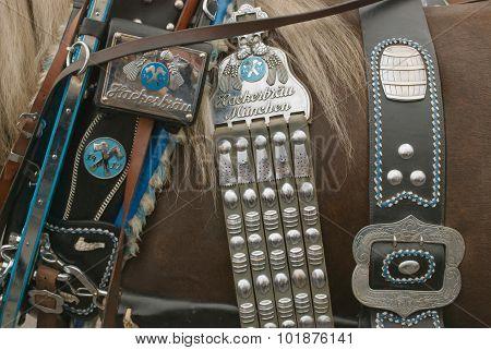 Oktoberfest horse Bridle Hackerbraeu