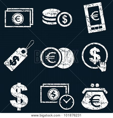 Currency icons set use for any design
