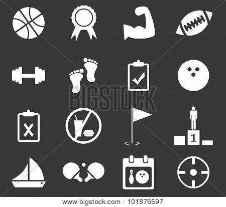 Sport icon set 1, monochrome