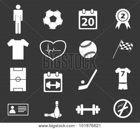Sport icon set 2, monochrome