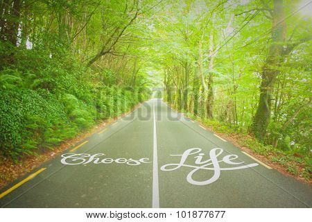 choose life against country road