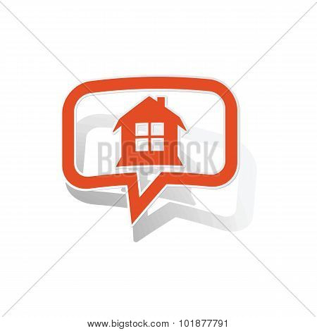 House message sticker, orange