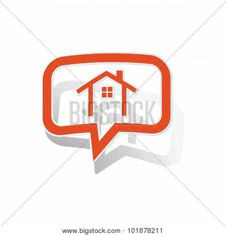 Cottage message sticker, orange