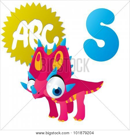 Dino Animal ABC: S is for Styracosaurus