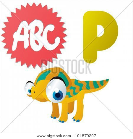 Dino Animal ABC: P is for Protoceratops