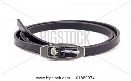 Black woman belt isolated on white background.