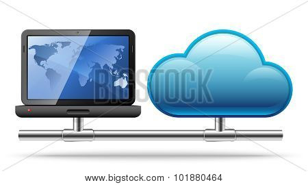 Cloud Computing. Vector Illustration