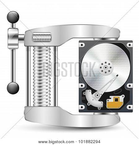 Data Compression Icon. Vector