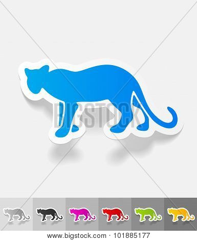 realistic design element. cheetah