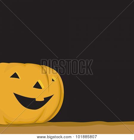Halloween pumpkin illustration as vector - Trick or treat - Tip or Trick.