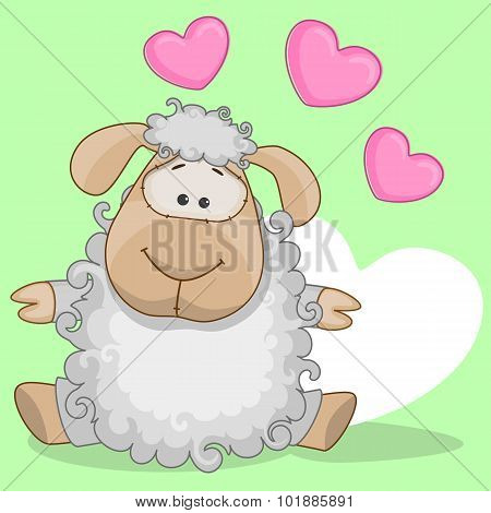 Sheep With Hearts