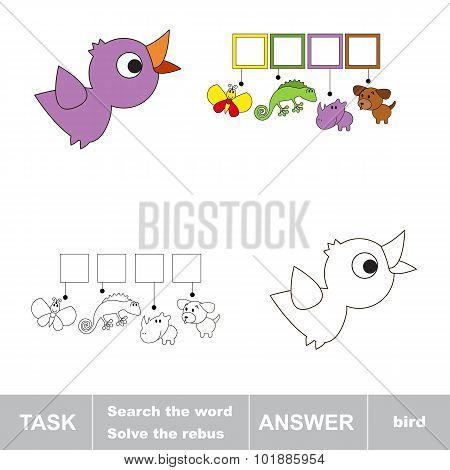 Solve the rebus. Find hidden word BIRD.