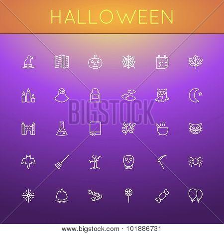 Vector Halloween Line Icons