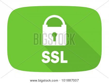 ssl flat design modern icon with long shadow for web and mobile app