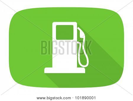 petrol flat design modern icon with long shadow for web and mobile app