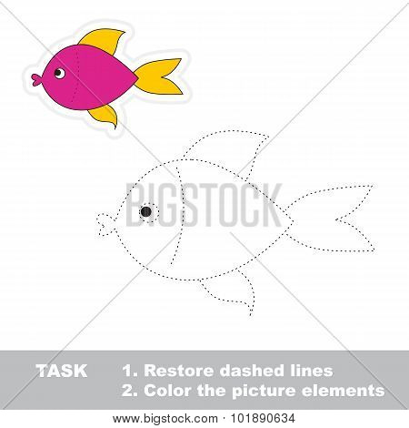 One cartoon pink fish.