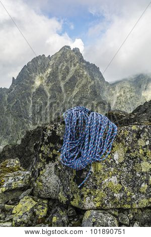 Blue Rope On The Background Summit