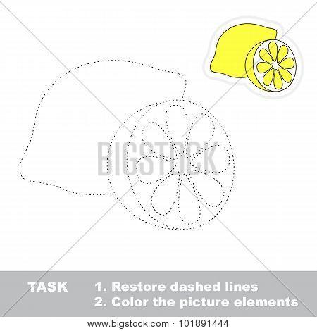 One cartoon lemon.