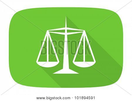 justice flat design modern icon with long shadow for web and mobile app