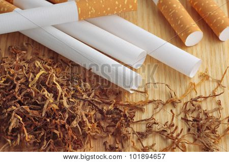 Empty Cigarette Tubes And Tobacco