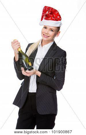 Female Managers Who Celebrates Christmas.