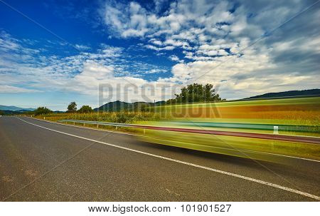 High Speed Moving Car