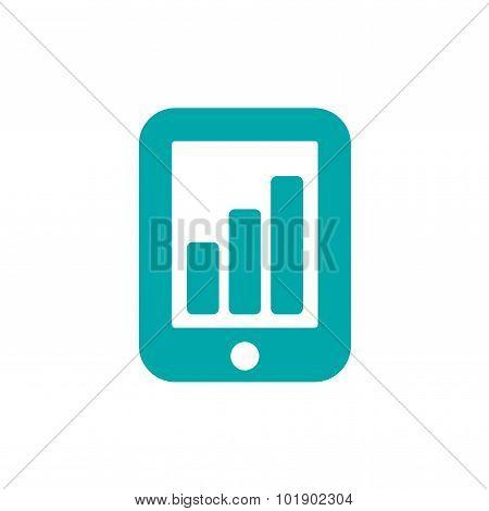 Presentation Concept Icon. Business Presentation Concept Icon. Stock Illustration Flat Design Icon.