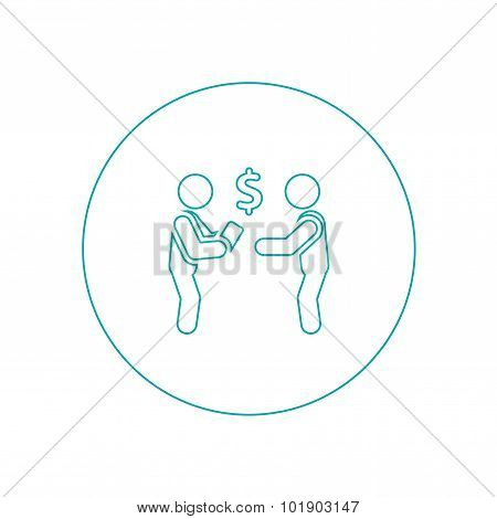 Conciliation Payment Icon. Stock Illustration Flat Style Design Icon.