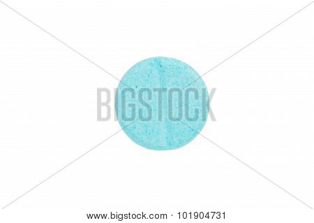 Closed Up Medicine Tablet On White Background