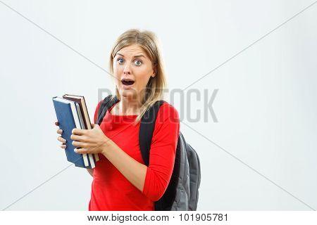 Student in panic