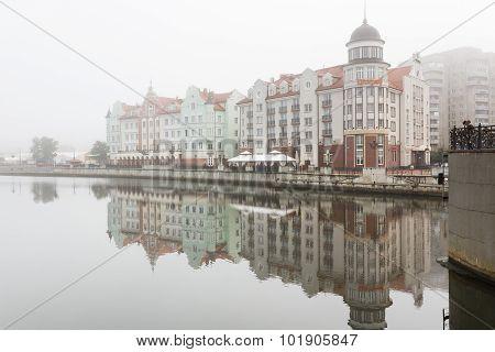 Fog In The Fishing Village, Kaliningrad