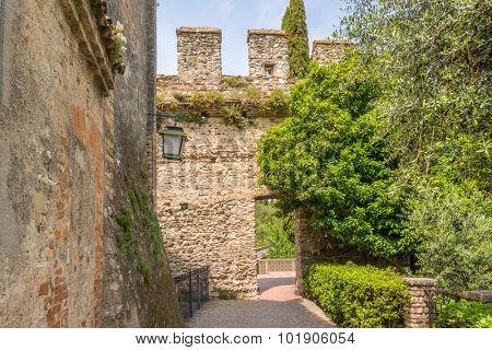 Scenery of Italy series - Castello Scaligero at Sirmione. Lake Garda. Italy.