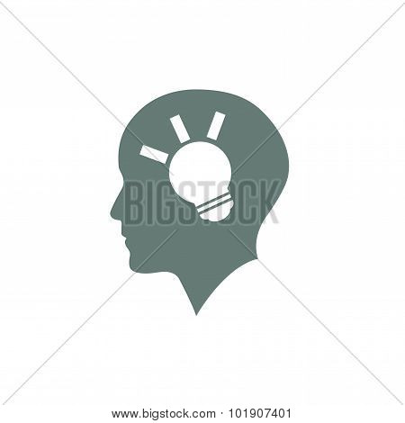 Brainstorming - Stock Illustration Showing A Man Looking For Ideas