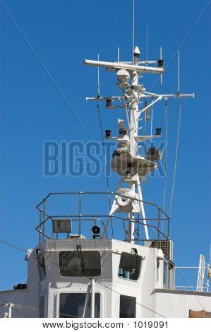 Ships Mast With Communication Signals