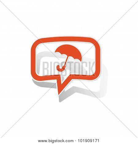 Umbrella message sticker, orange