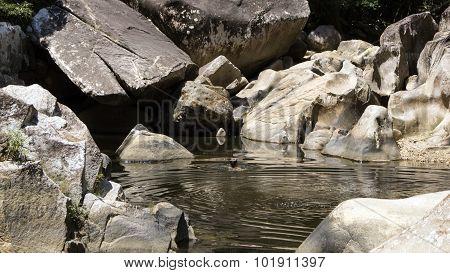 Bathing in Ba Ho