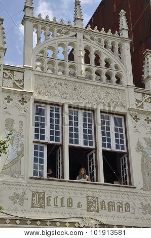 Windows Of Lello Bookstore