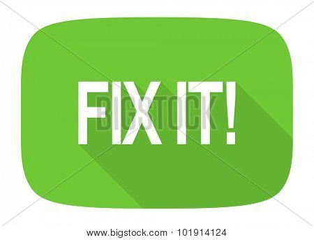 fix it flat design modern icon with long shadow for web and mobile app