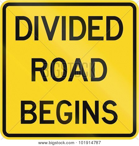 Divided Road Begins In Canada