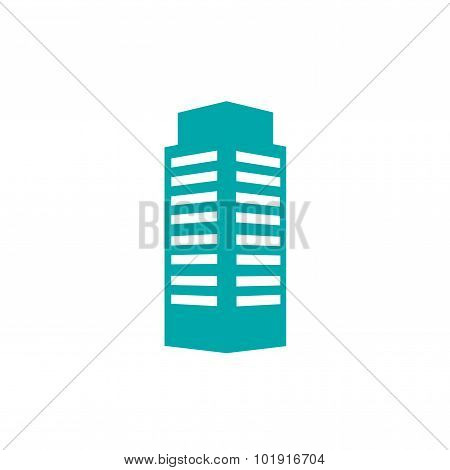 Building Icon. Stock Illustration Flat Design Style Icon.