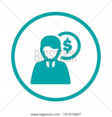 Personal Expenditure Icon. Finance Icon. Economy Symbol. Businessman Icon.