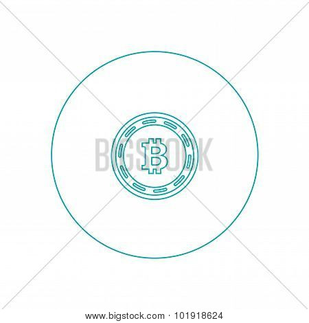 Digital Money Icon. E-commerce Icon. Bitcoin Icon. Innovative Cryptography Currency. Digital Money F