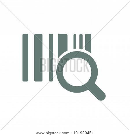 Identification Barcode Sticker With Magnifying Glass