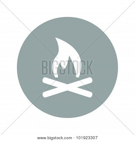 Vector Illustration Of A Fire Icon